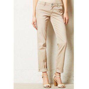 Pilcro Anthropologie Hyphen Pink Tan Chino Pants
